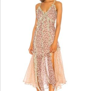 LUCIA RUFFLED FLORAL DRESS